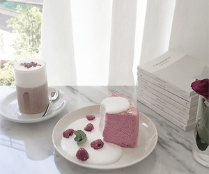 cake, aesthetic, and drink image