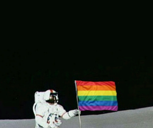 space, moon, and lgbt image