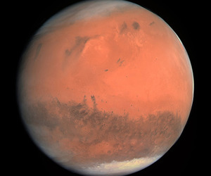 planet, mars, and space image
