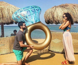 couple, ring, and love image