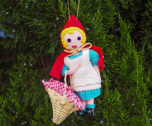 christmas tree, fairy tale, and red riding hood image
