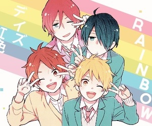 nijiiro days, anime, and rainbow days image
