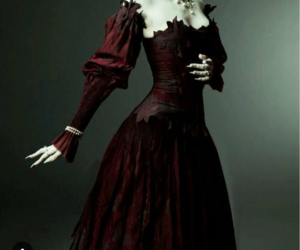 black, red, and vampire image