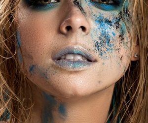 blonde, blue, and face image
