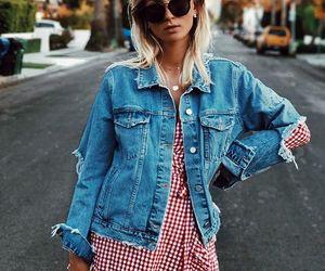 blogger, boho, and denim jacket image