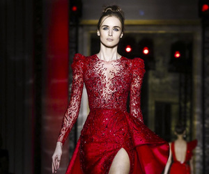 dress, red, and Zuhair Murad image