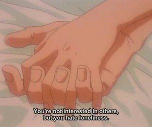 anime, quotes, and hands image