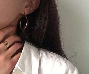aesthetic, earrings, and white image