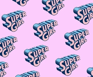 DC, pink, and Supergirl image