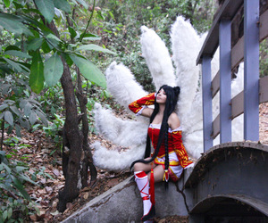 cosplay, ahri, and league of legends image