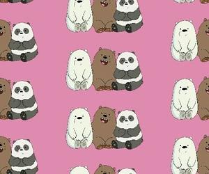 bears, cartoon, and pink image