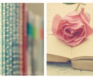 book, pink, and flower image
