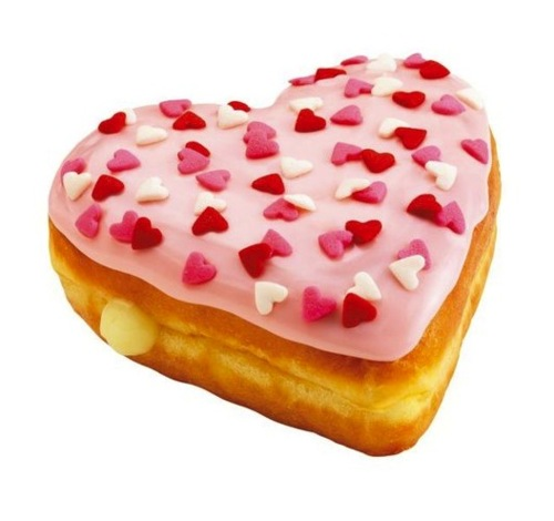 heart, donuts, and food image