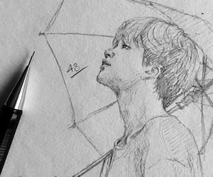 draw, bts, and jimin image