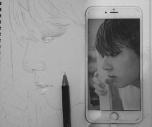 draw, bts, and jungkook image