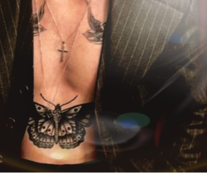 tattoo and Harry Styles image