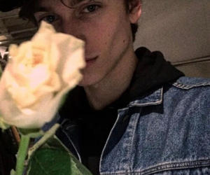 boy, rose, and grunge image