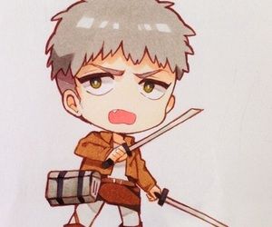 anime, attack on titan, and chibi image