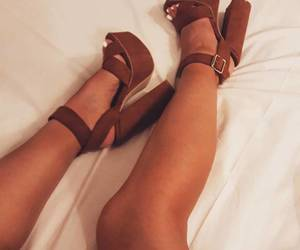 brown, high heels, and Nude image