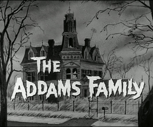 the addams family, black and white, and addams family image