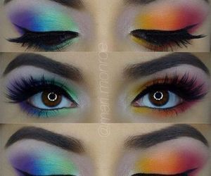 rave makeup and edm eyeshadow image