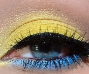 rave makeup, rave eyeshadow, and edm eyeshadow image