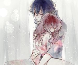 art, anime couple, and cute image