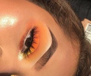 eyebrows, fashion, and make up image