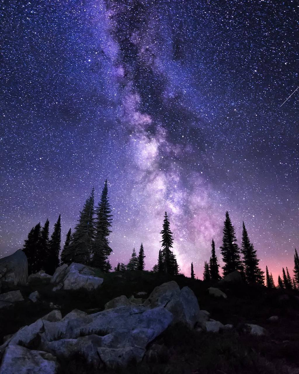 beautiful, galaxy, and landscape image