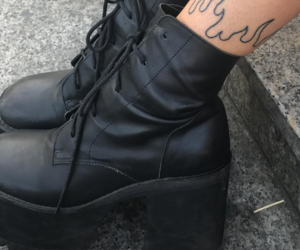 aesthetic, tattoo, and goth image
