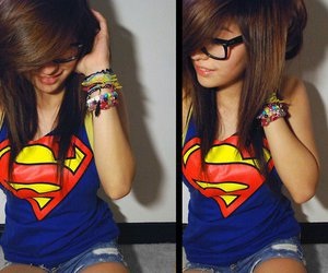 girl, superman, and swag image