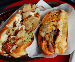 food, hot dog, and yummy image