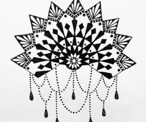 art, tattoo, and mandala art image
