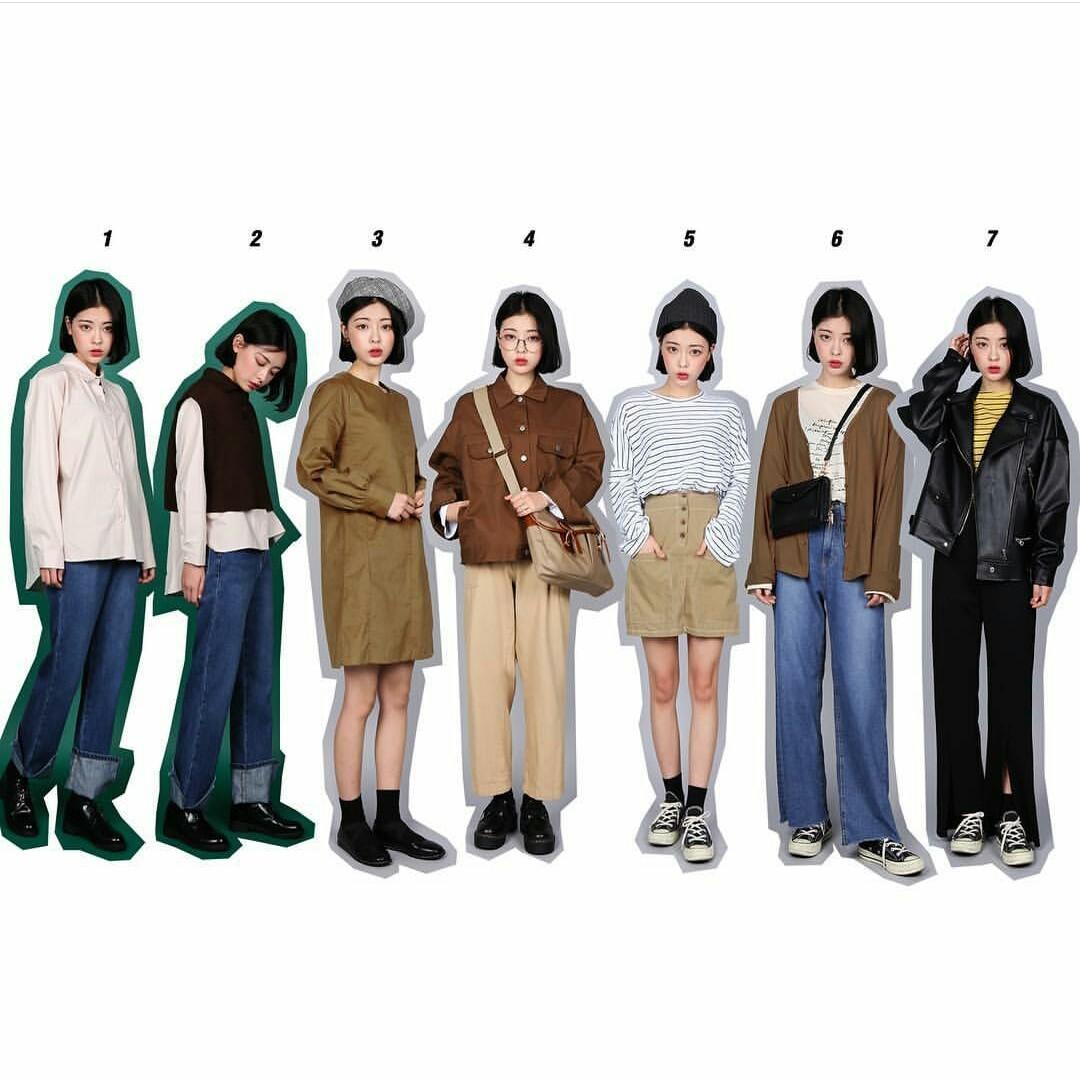 aesthetic, kfashion, and fashion image