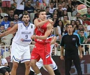 Basketball, Greece, and Serbia image