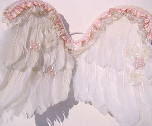 angel, fly, and pink image