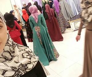 girls, muslim, and hijab image
