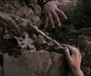 aesthetic, hands, and cliff image
