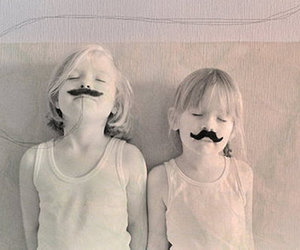 child, mustache, and kids image