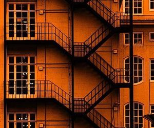 aesthetic, building, and orange image