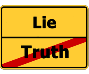 article, lie, and opinion image