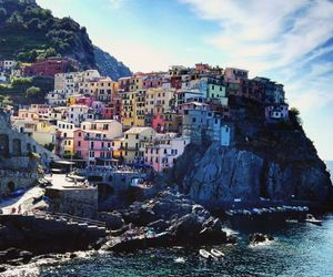beach, colours, and manarola image