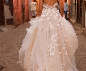 bridal, romantic, and wedding dress image