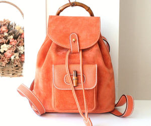 orange, authentic, and backpack image