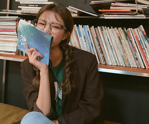 korean, asian, and book image