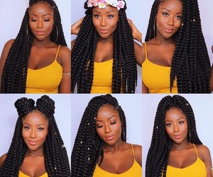 braid, hairstyle, and melanin image
