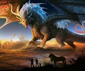 beautiful, dragon, and fantasy image