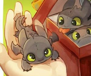 cartoon, cute, and dragons image
