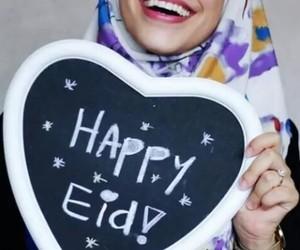 eid, eid mubarak, and hijab image