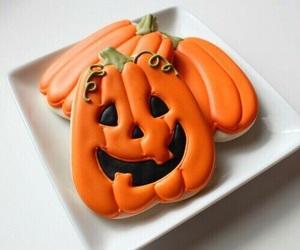 Halloween, pumpkin, and Cookies image
